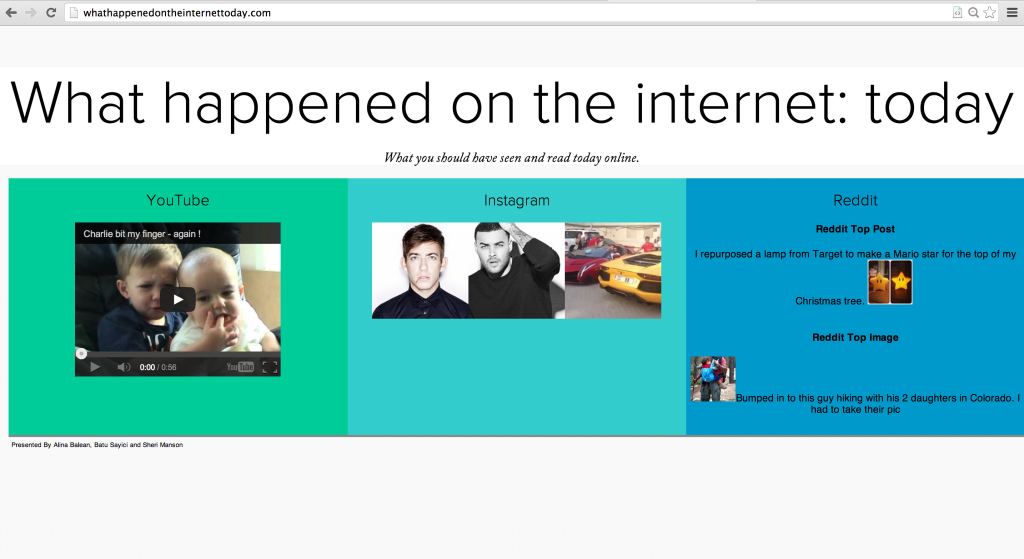 What Happened on the Internet Today?